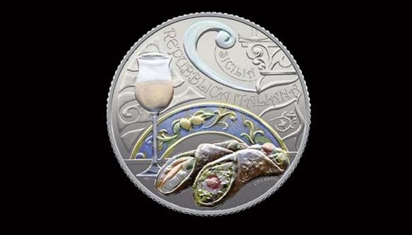 Il cannolo e il passito finiscono sulle monete della collezione della Zecca dello Stato