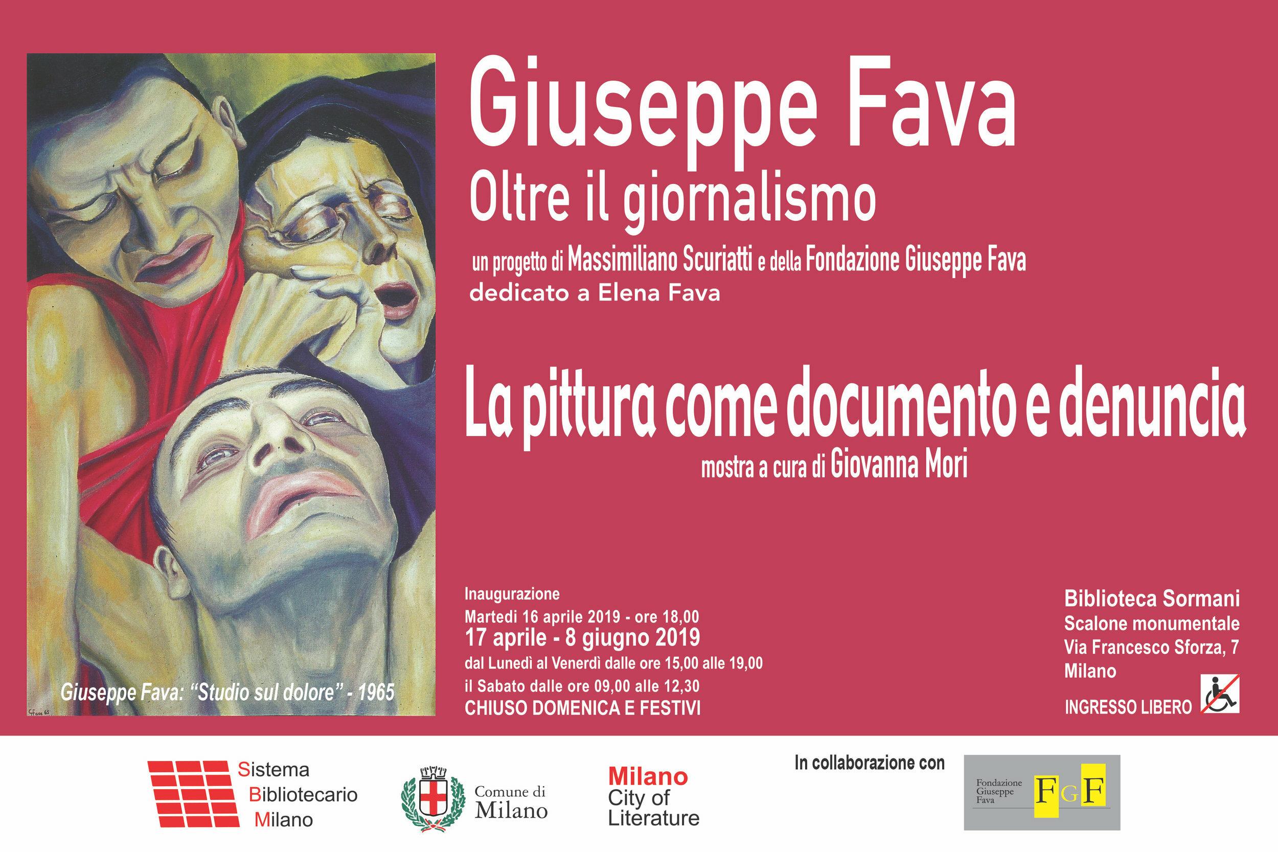 """""""Giuseppe Fava, oltre il giornalismo - La pittura come documento e denuncia"""" - La mostra a Milano"""