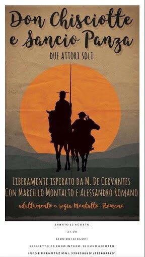 """Don Chisciotte e Sancio Panza, protagonisti delle """"Sere d'estate ad Aci Castello"""""""
