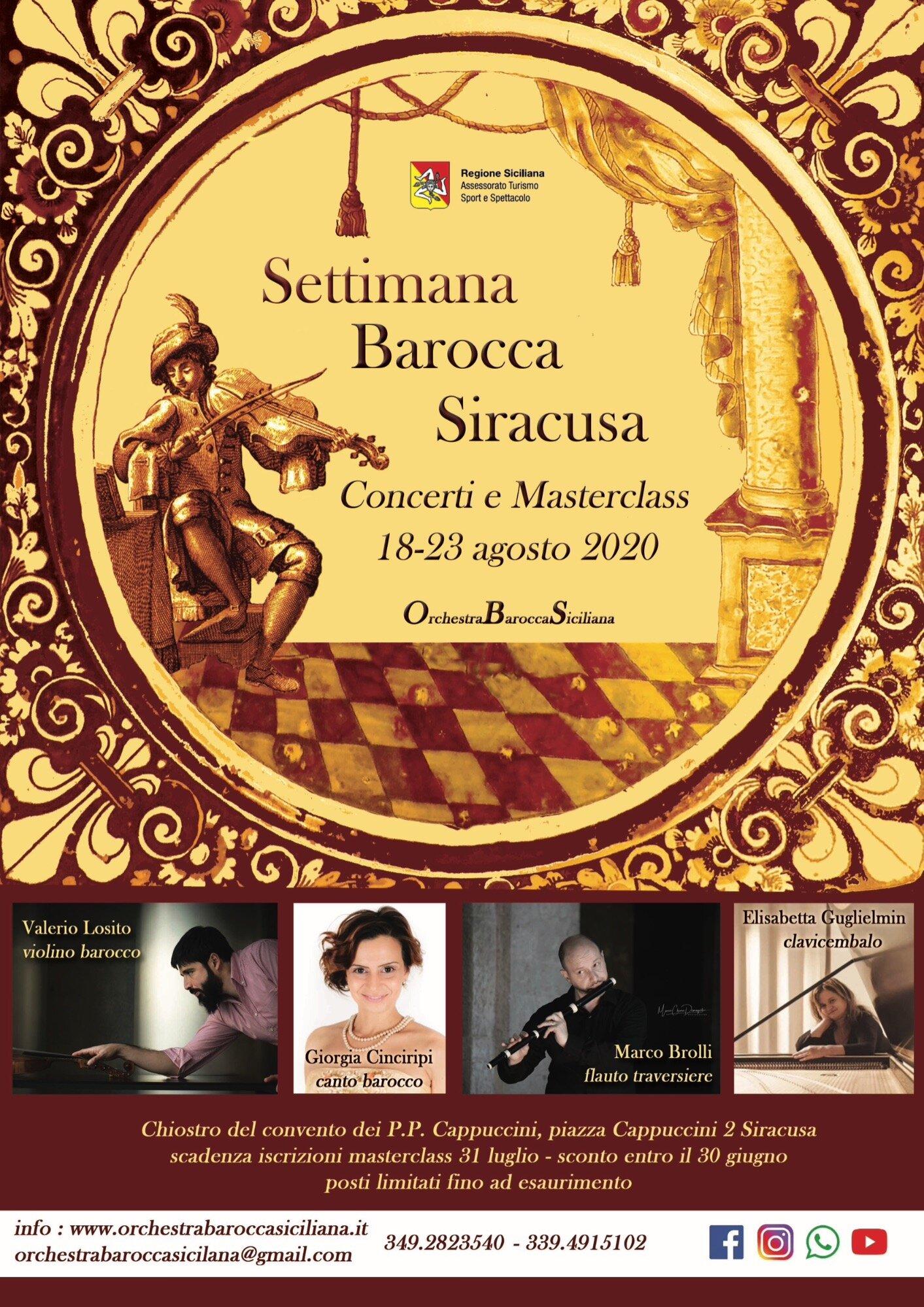Settimana Barocca di Siracusa: al via il Festival dell'Orchestra Barocca Siciliana