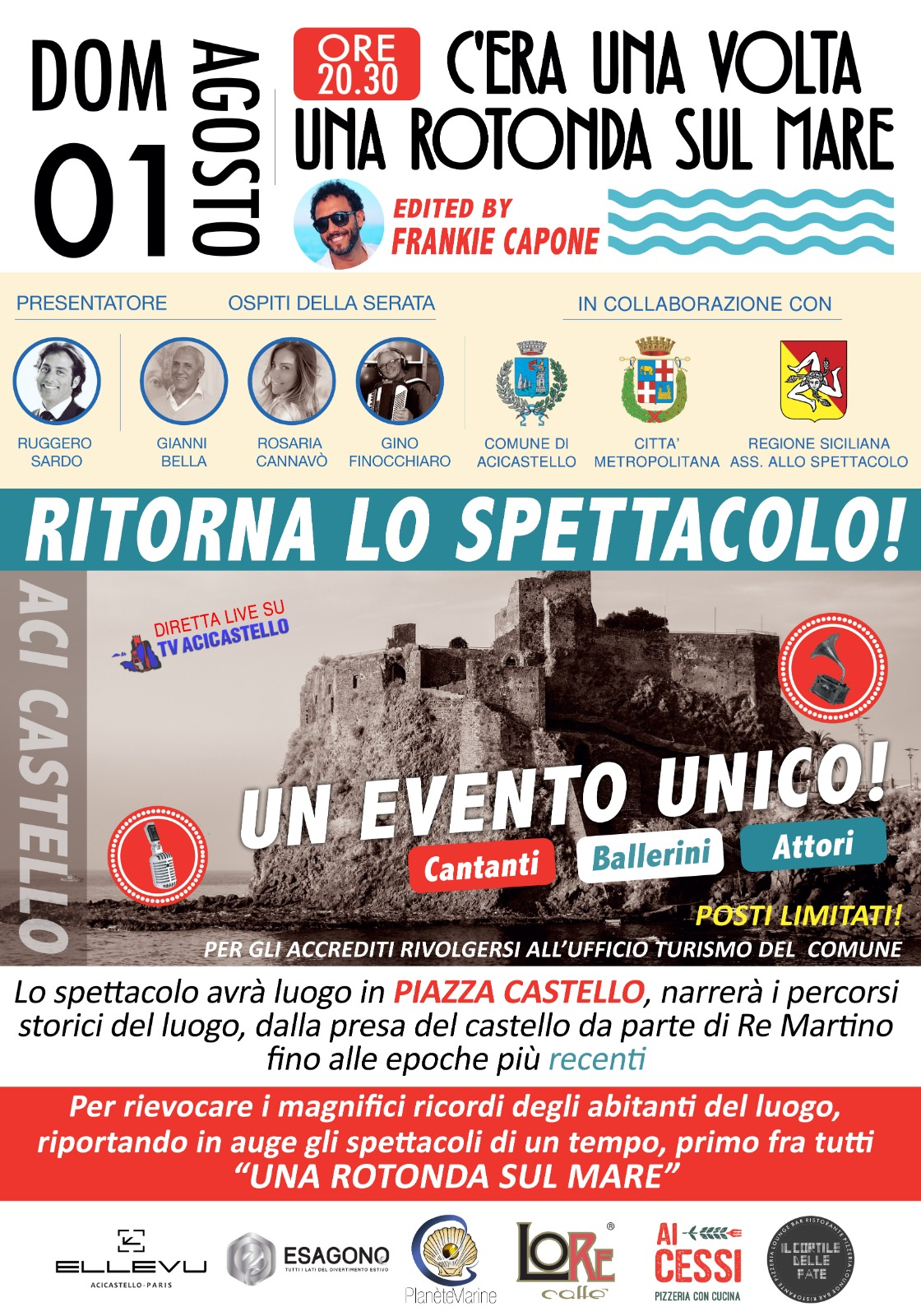 """Aci Castello: va in scena """"C'era una volta…una rotonda sul mare"""", riedizione della storica manifestazione degli anni '50-'70"""