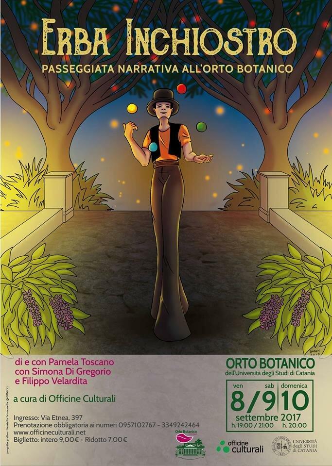 """""""Erba inchiostro"""", le passeggiate narrative all'Orto Botanico di Catania"""