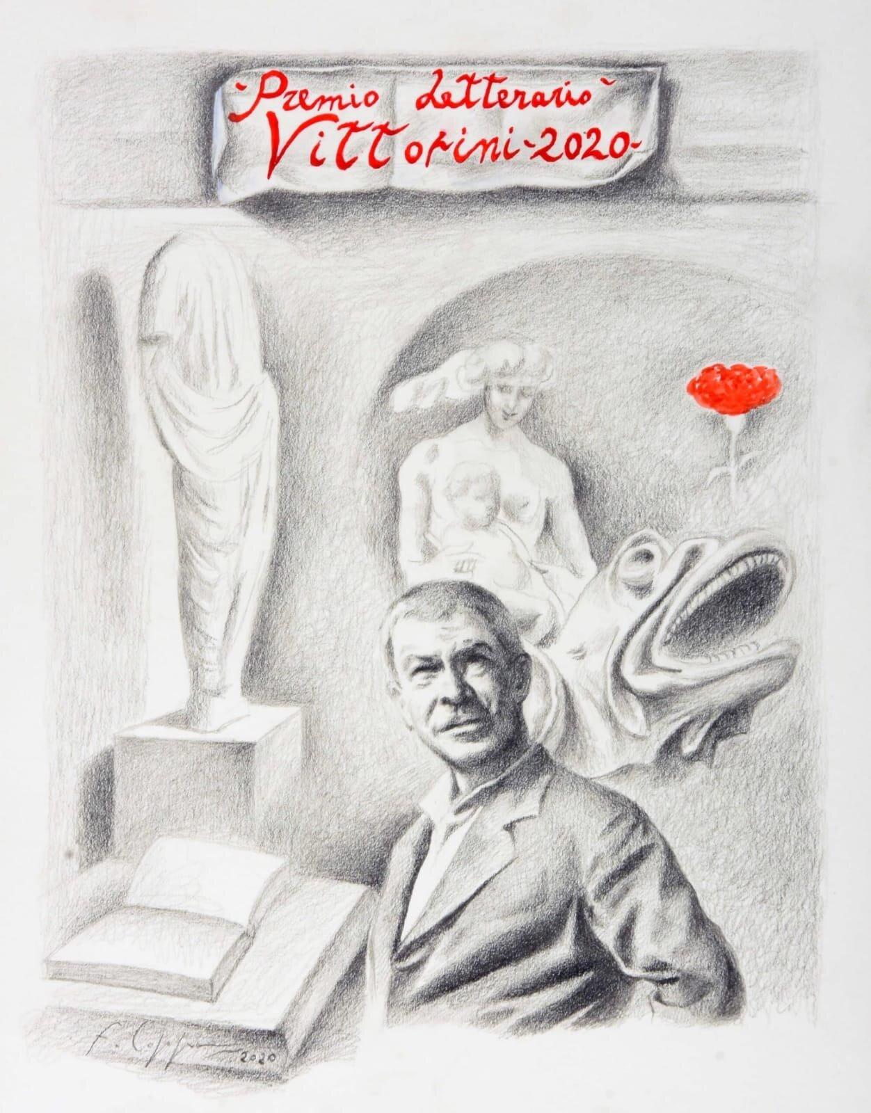 IL maestro Francesco Coppa realizza il manifesto del Premio Nazionale Elio Vittorini