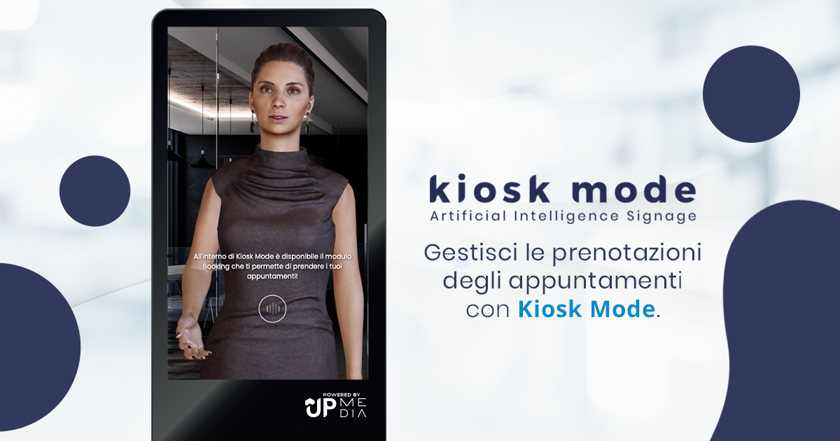 GAIA gestisce le prenotazioni di servizi e appuntamenti all'interno del Totem Kiosk Mode