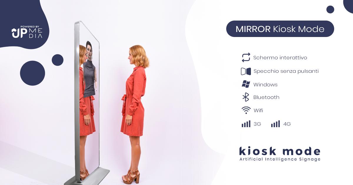 Mirror Kiosk Mode: il totem multimediale che si presenta come uno specchio