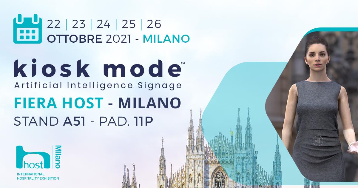 Kiosk Mode alla Fiera HOST di Milano dal 22 al 26 Ottobre 2021