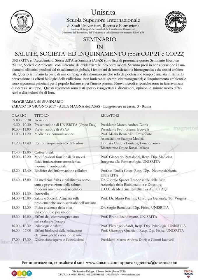 Salute, Società ed Inquinamento (post COP 21 e COP22)