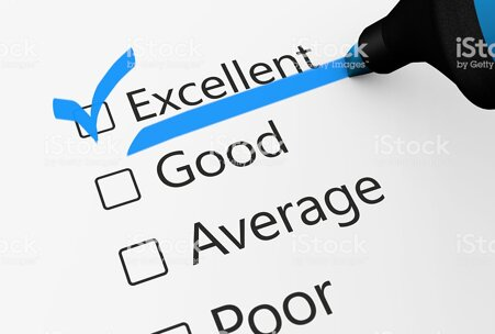 excellent-quality-customer-checklist-survey-picture-id531469372