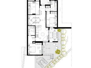 AB Studio Architettura La Caletta Suite Blevio Pianta Lago di Como arch. Jacopo Alberto Bonini