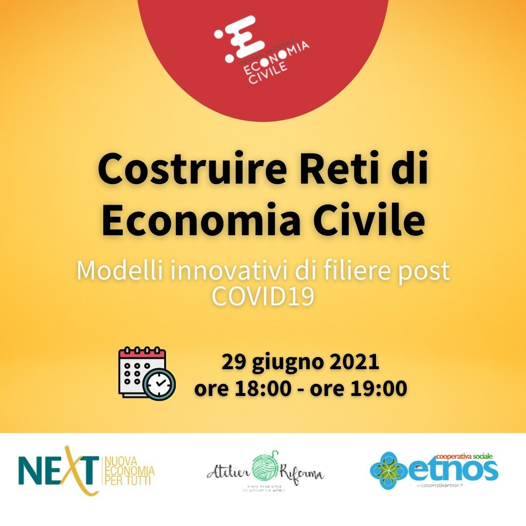 Webinar Costruire Reti di Economia Civile